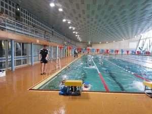 Schwimmtraining am Freiberger Platz